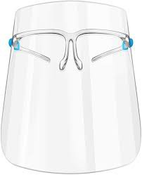 Escudo facial con marco de lentes 1 und