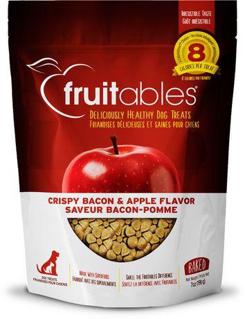 Crispy bacon & apple dog treats