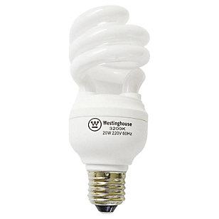 Ampolleta ahorro 20 Watts Luz cálida Espiral