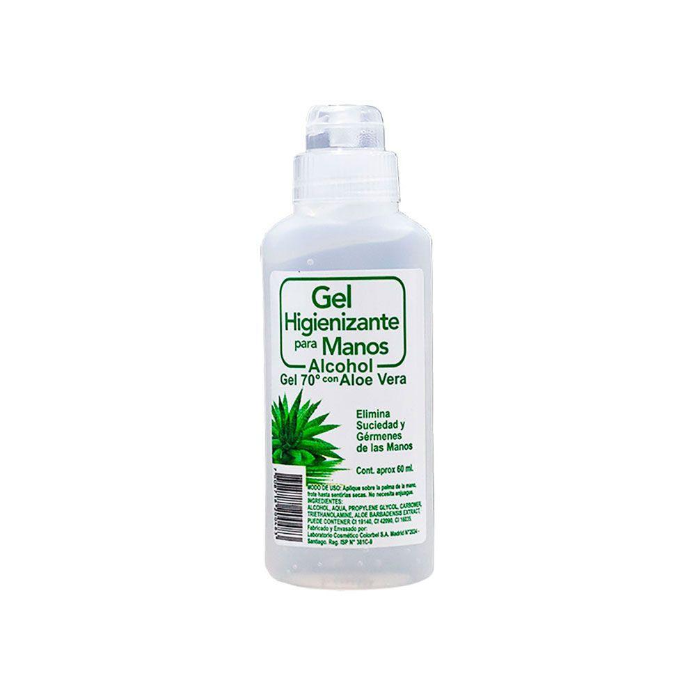 Alcohol gel 60 ml con aloe vera