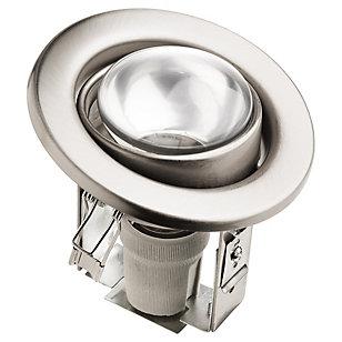 Foco Circular Orientable 1 luz Plateado