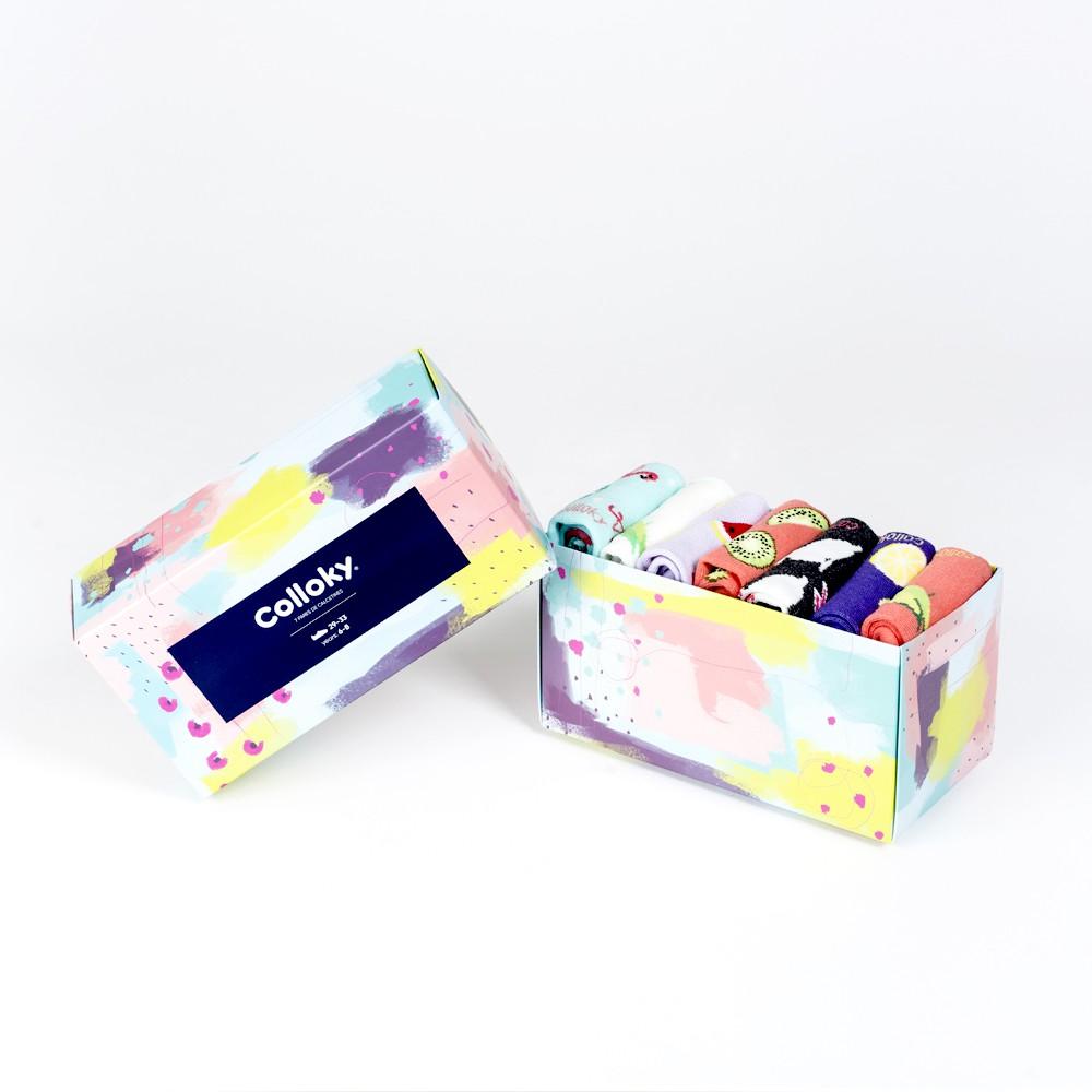 Calcetin de niña 6 pack caja Talla 29/33