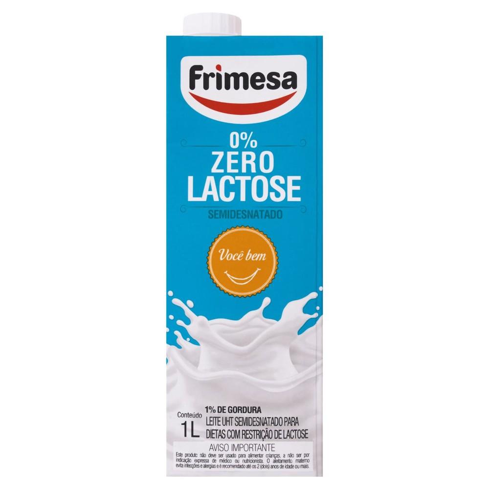 Leite semidesnatado zero lactose