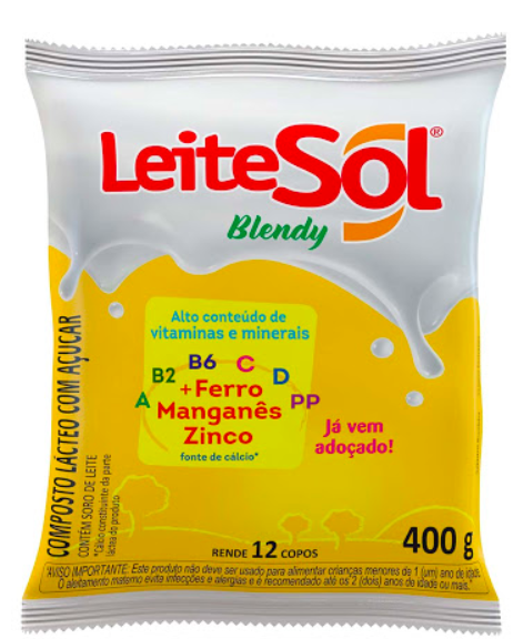 Composto lácteo em pó Blendy