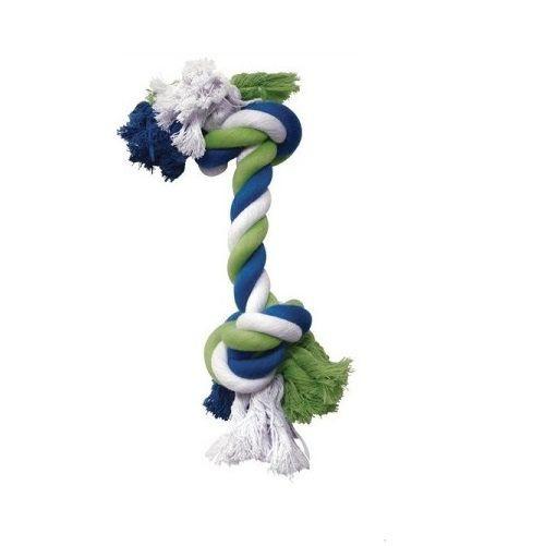 Cuerdas anudadas tricolor tamaño M juguete 6cm