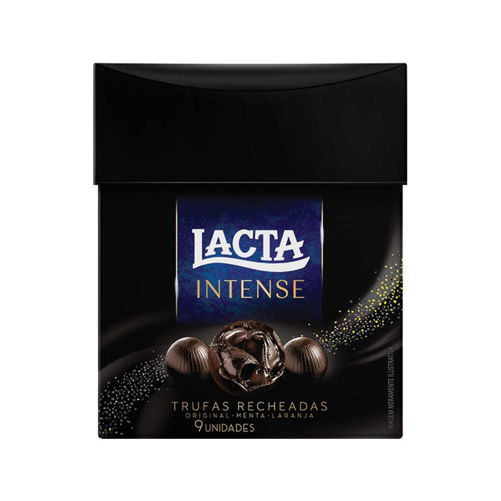 Trufas sortidas sabor chocolate dark