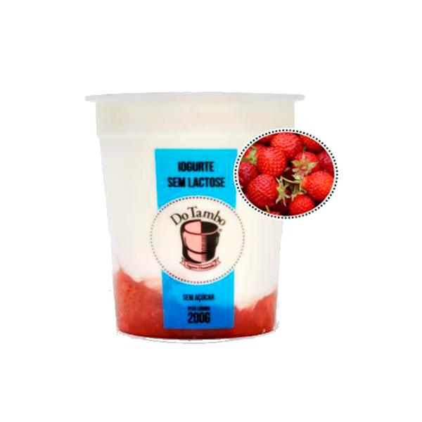 Iogurte sem lactose morango
