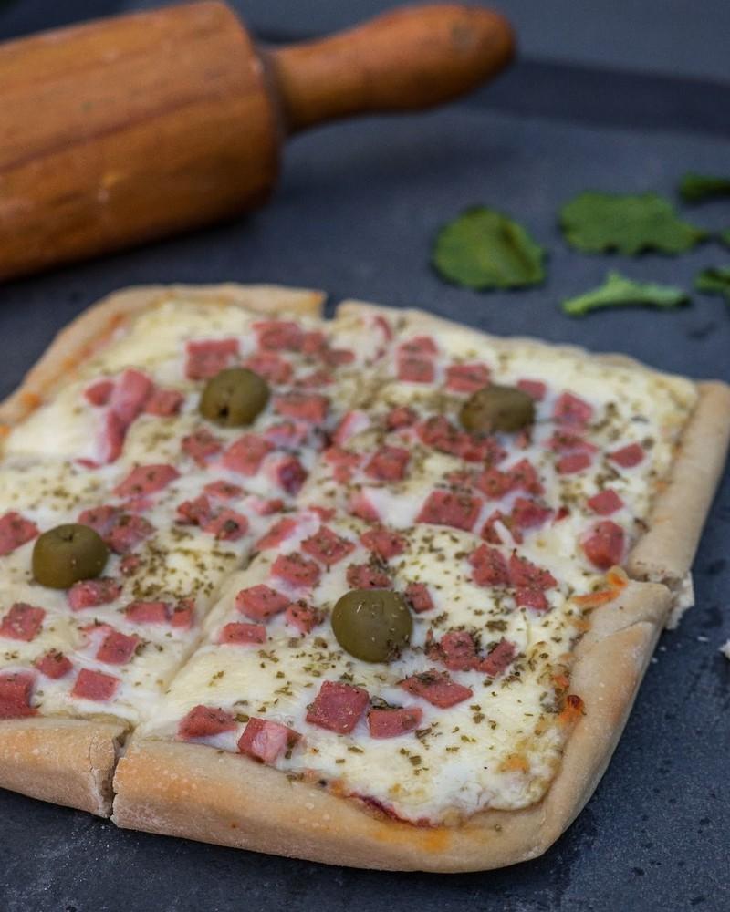 Pizza jamón tradicional Individual, 20x20cm