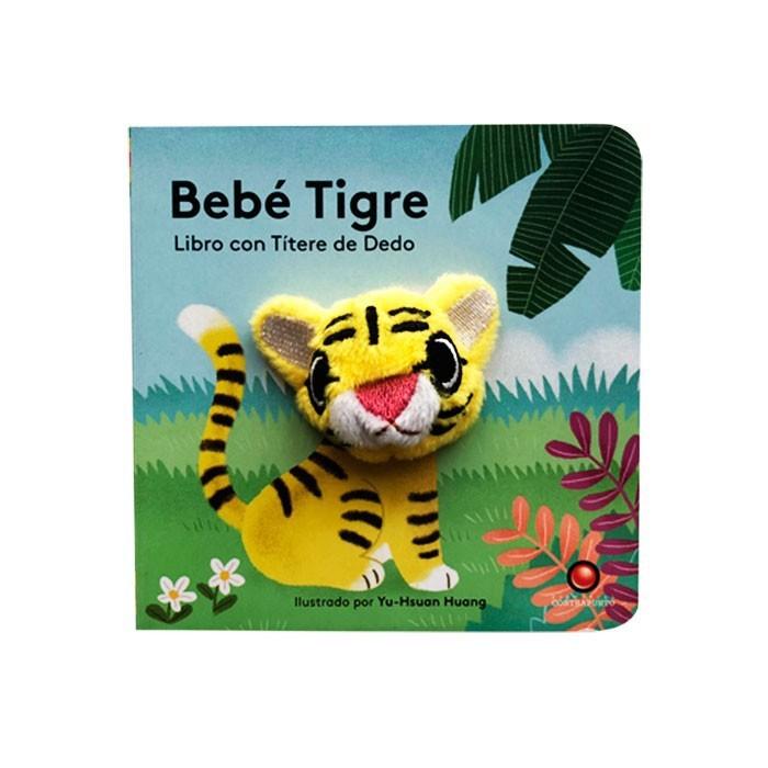 Libro títere de dedo bebe tigre
