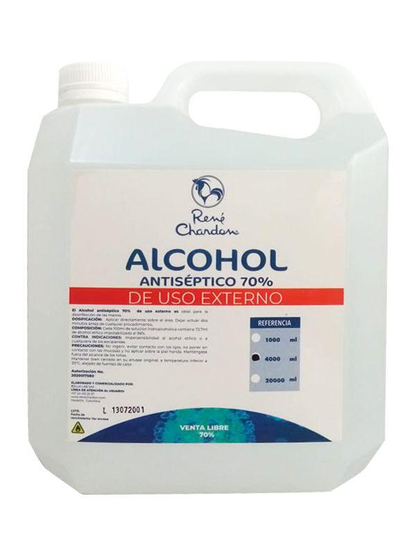 Alcohol antiséptico al 70% 4 l