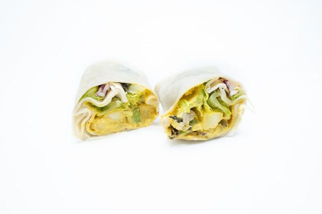 Curry chicken wrap