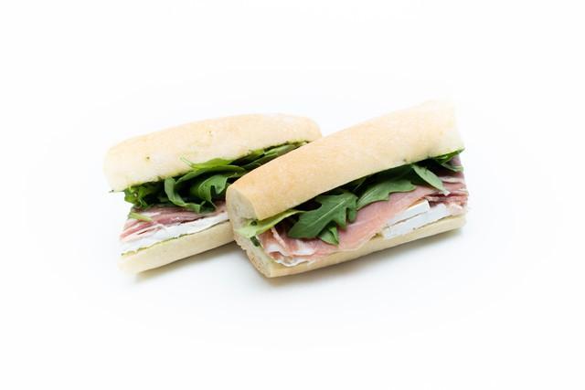 Prosciutto and brie sandwich