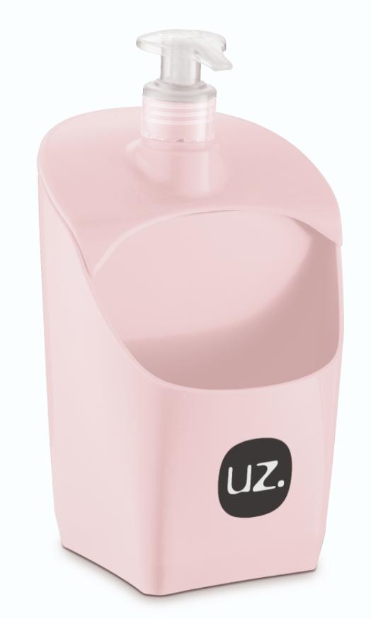 Dispenser para detergente rosa