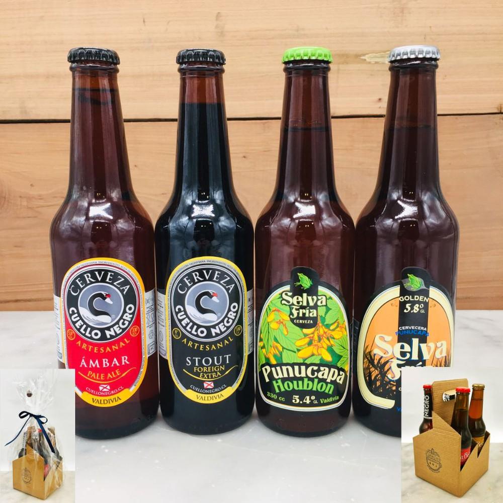Pack 4 cervezas valdivianas botellas