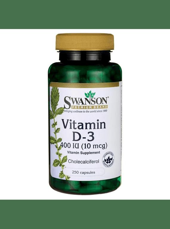 Vitamina d3 250 capsulas 400ui