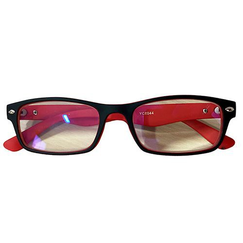 Lentes ópticos negro con rojo - grado 1,5 Unidad