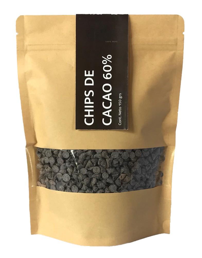 Chips de cacao 60% Doypack de 450 grs