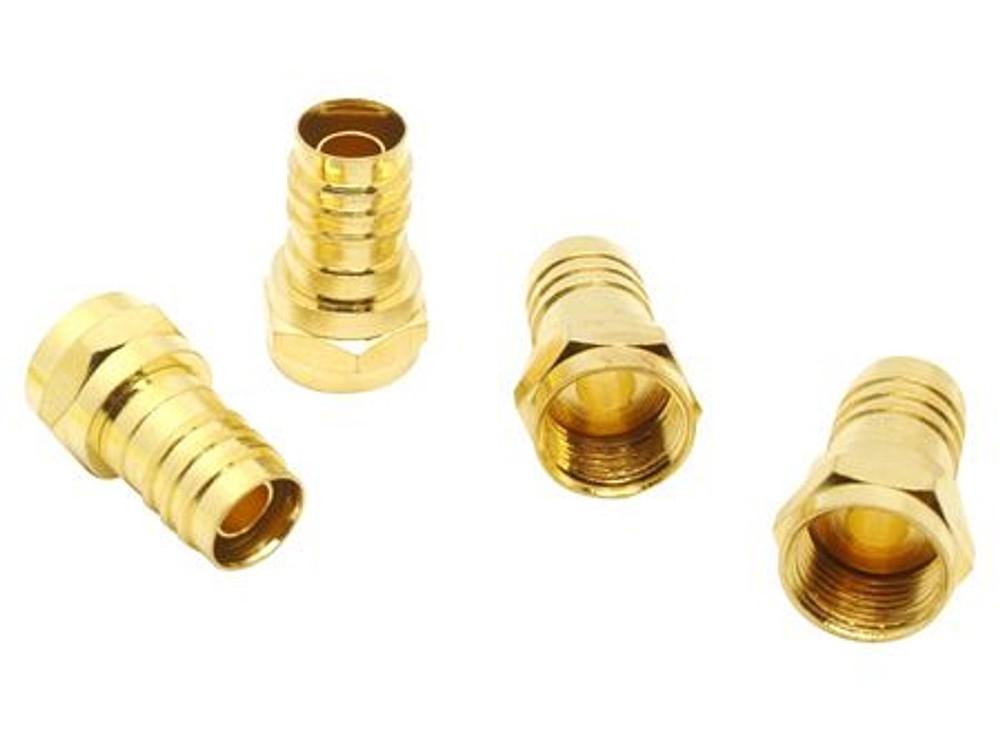 Conector crimpeo F bronce