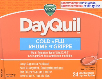 DayQuill cold & flu liquid capsules