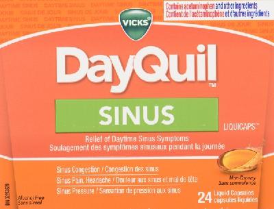 Vicks Dayquil Sinus Liqcap