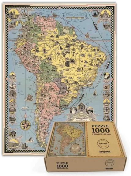 Puzzle sudamérica - 1.000 piezas