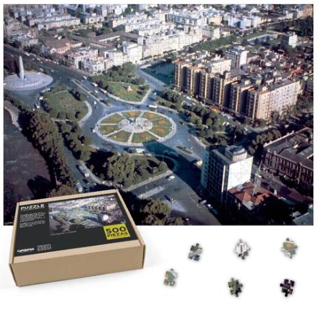 Puzzle plaza baquedano en 1960 - 500 piezas