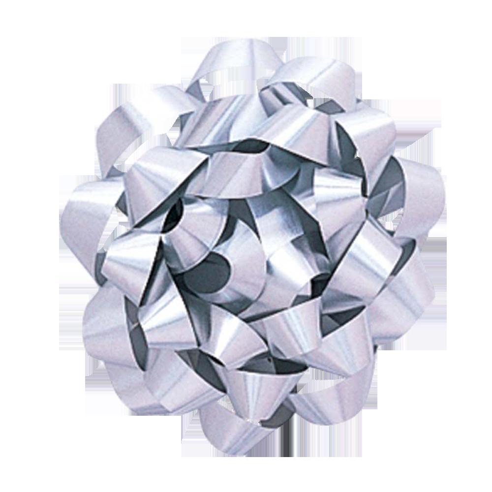 Cinta regalo mediana metalizada - plata