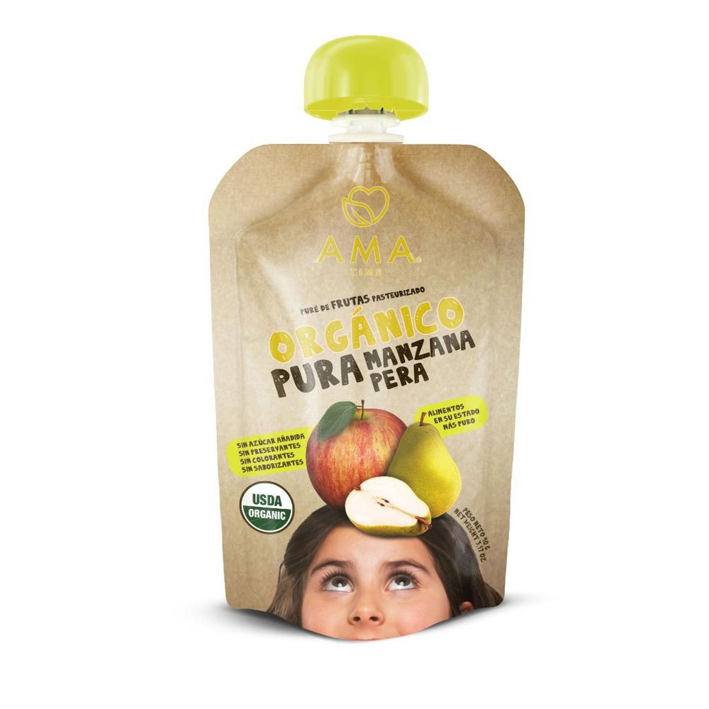 Puré manzana pera orgánico 90 g