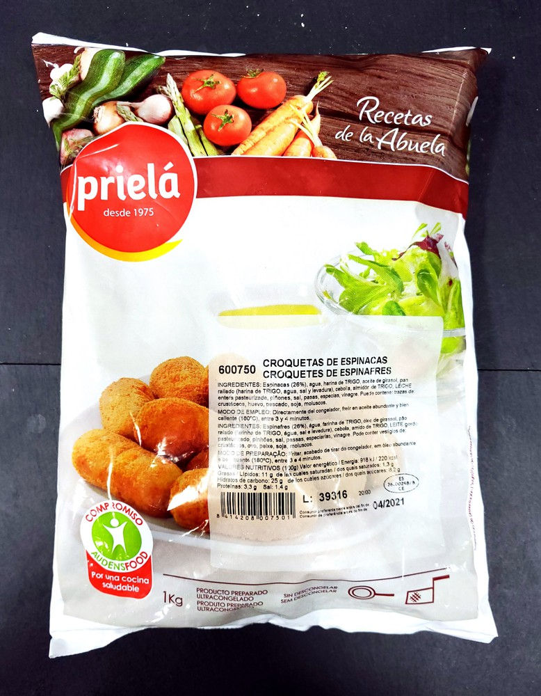 Spinach croquettes priela (from spain)