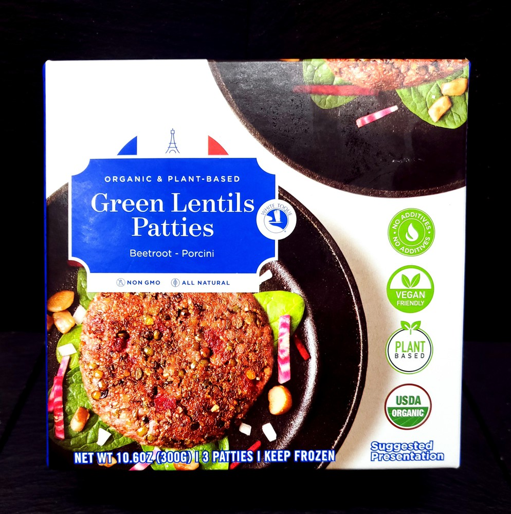 Organic green lentils patties