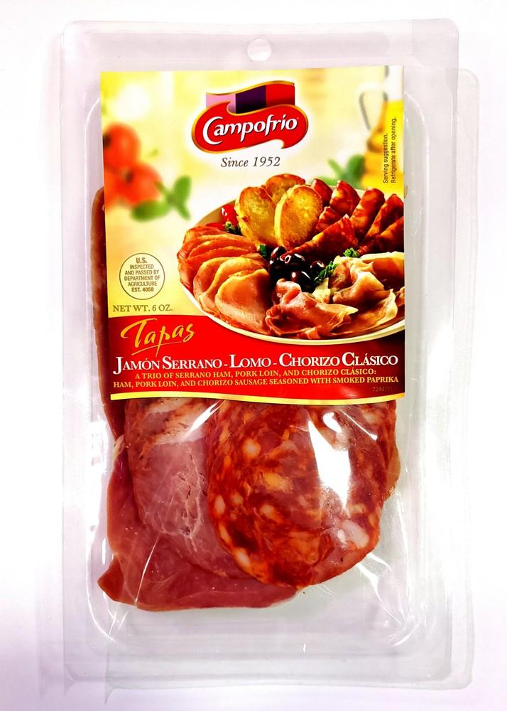 Tapas serrano ham, pork loin & chorizo