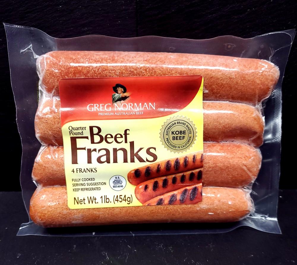 Australian wagyu beef franks hot dogs