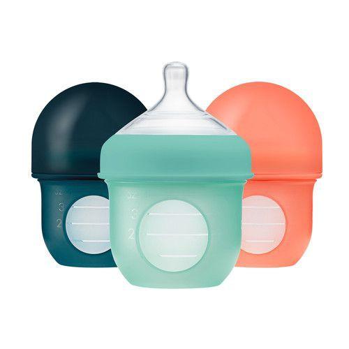 Set mamaderas con bolsa de silicona Nursh 4 oz teal 118 ml / 4 oz