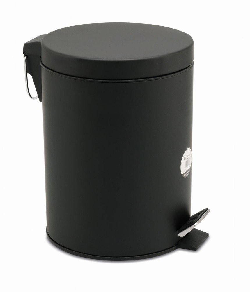 Lixeira de aço inox c/pedal 5L bettanin preto fosco