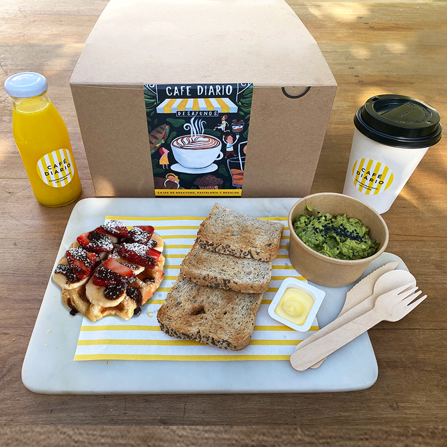 Desayuno waffle 1 pack