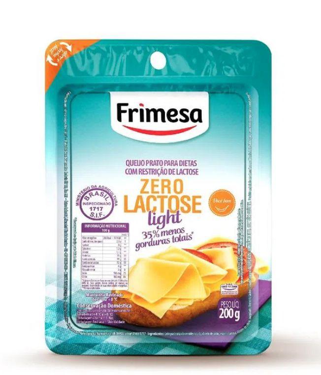 Queijo prato fatiado light zero lactose