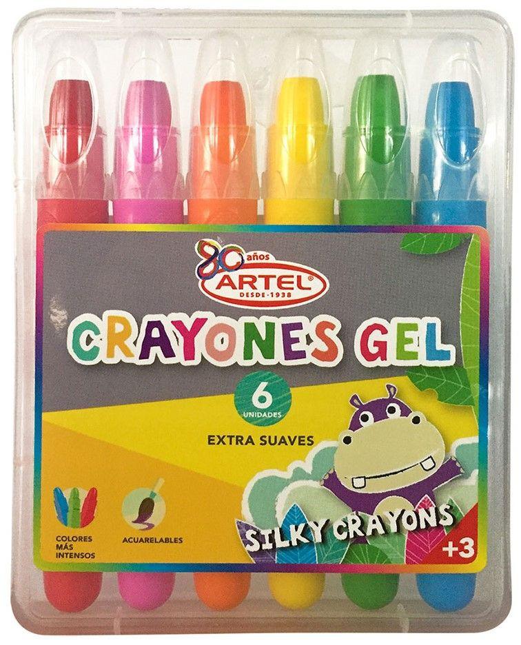 Estuche 6 crayones gel