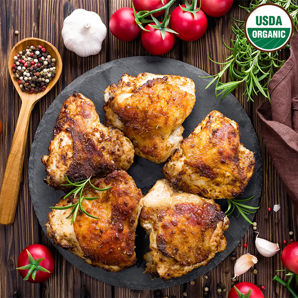 Organic chicken thighs by bell & evans 1.5 LB