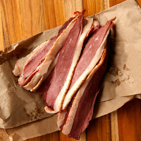 Uncured smoked duck bacon 8 OZ