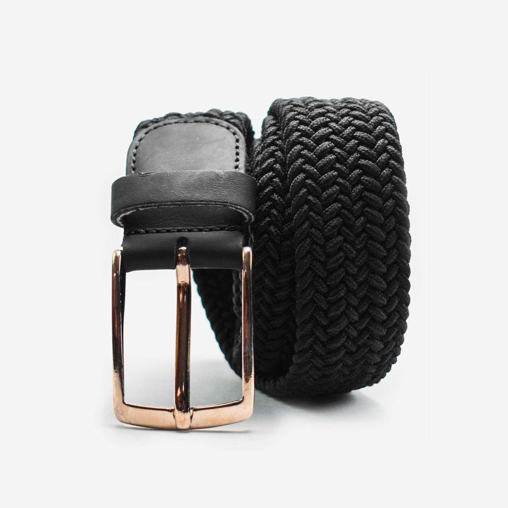 Cinturón elástico negro 3.5x105cm