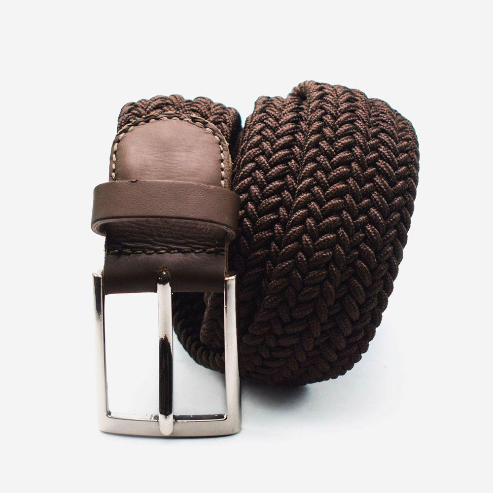 Cinturón elástico café 3.5x105cm