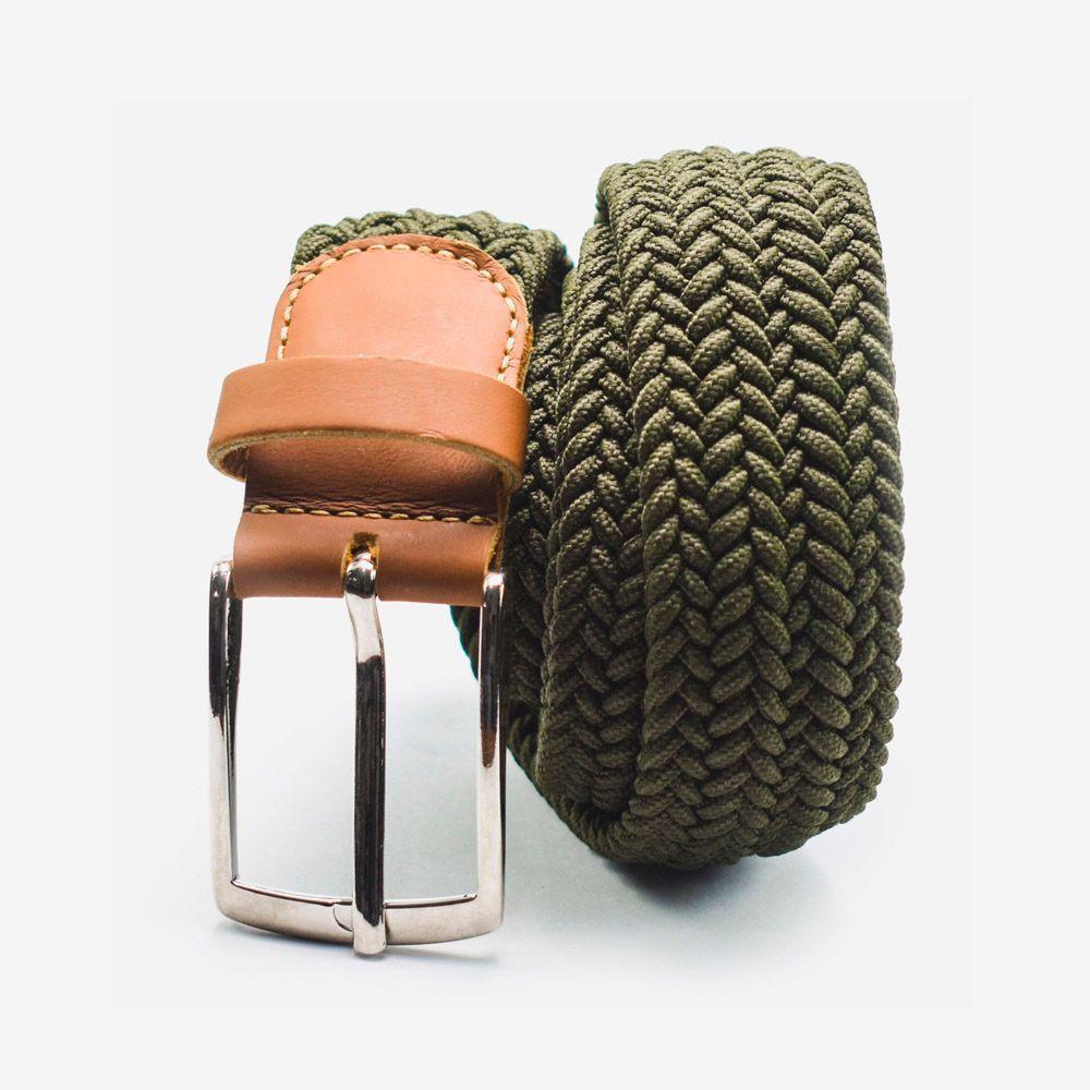 Cinturón elástico verde claro 3.5x105cm