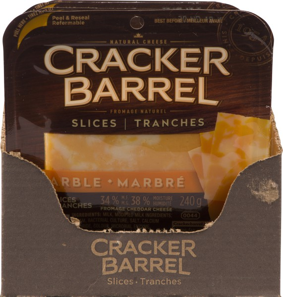 Marble cheddar cheese slices