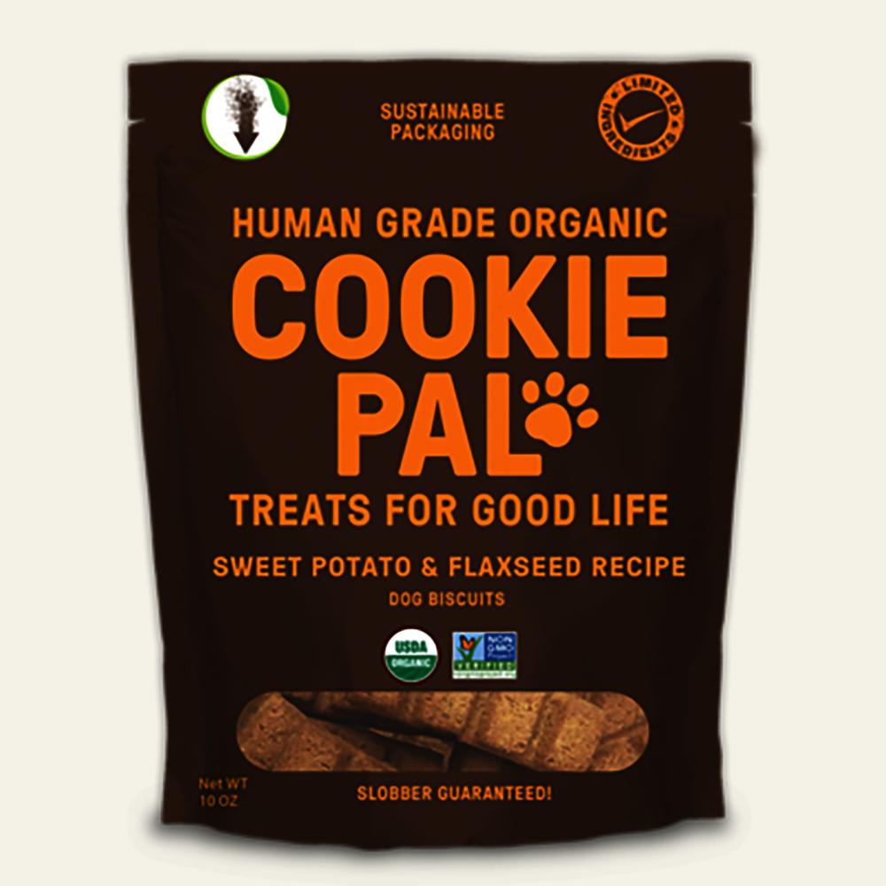 Sweet potato & flax dog biscuits