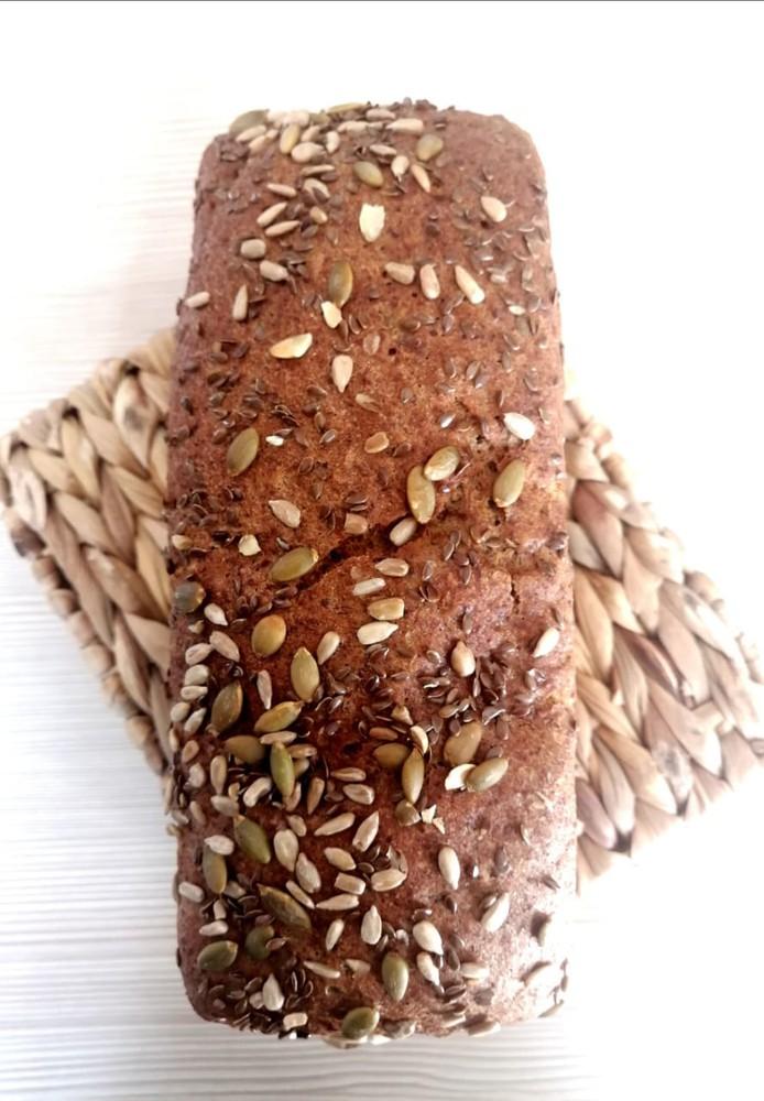 Pan molde linaza, Libre de Gluten Molde de 900 grs aprox