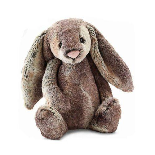 Peluche grande conejo gris woodland