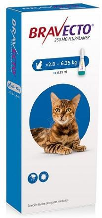 Bravecto gato 2.8 a 6.25 kg