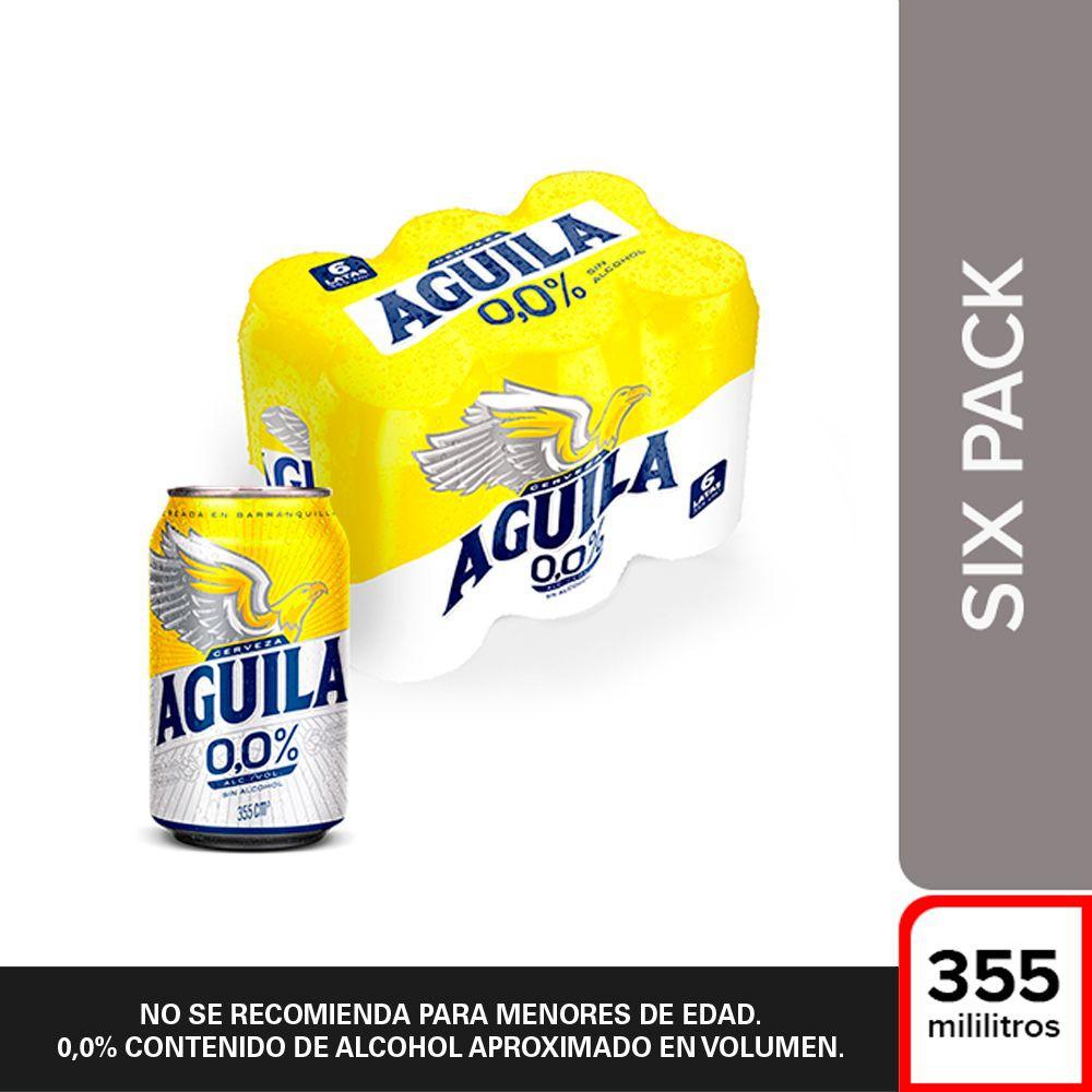 Pack cerveza 0.0% lata 6 x 355 ml c/u