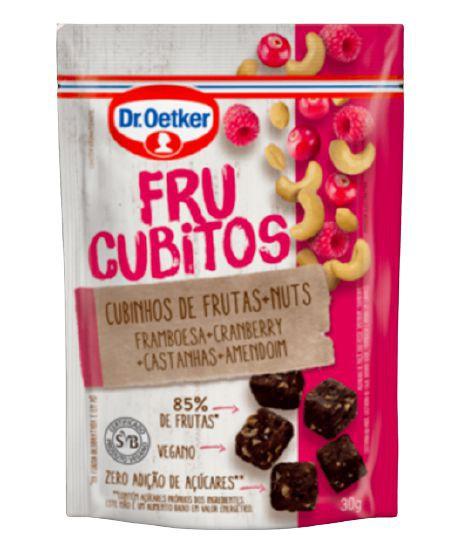 Frucubitos de framboesa e cramberry