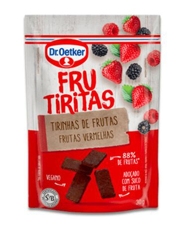 Frucubitos de frutas vermelhas